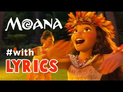 "MOANA song ""Where You Are"" with LYRICS no CUTSCENES"