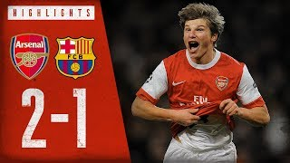 ARSHAVIIIIIIIIN  Arsenal 2-1 Barcelona  Champions League highlights  Feb 16 2011