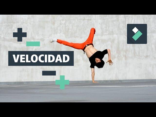 CÁMARA RÁPIDA y LENTA en FILMORA ⏪⏩   Editar Velocidad Vídeos   Curso Filmora