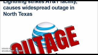 Lightning bolt strikes AT&T North Texas causing outage