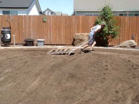 Leveling Out The Ground, The Ole Fashioned Way - Youtube