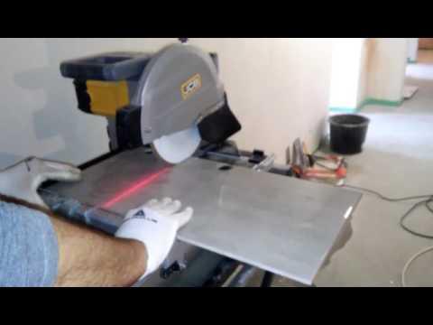 Хит продаж. Электрический плиткорез. RUBI DU 200 L BL - YouTube