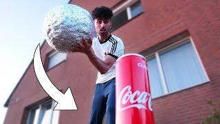 10.000 SCHICHTEN ALUMINIUM BALL vs COCA COLA !!!