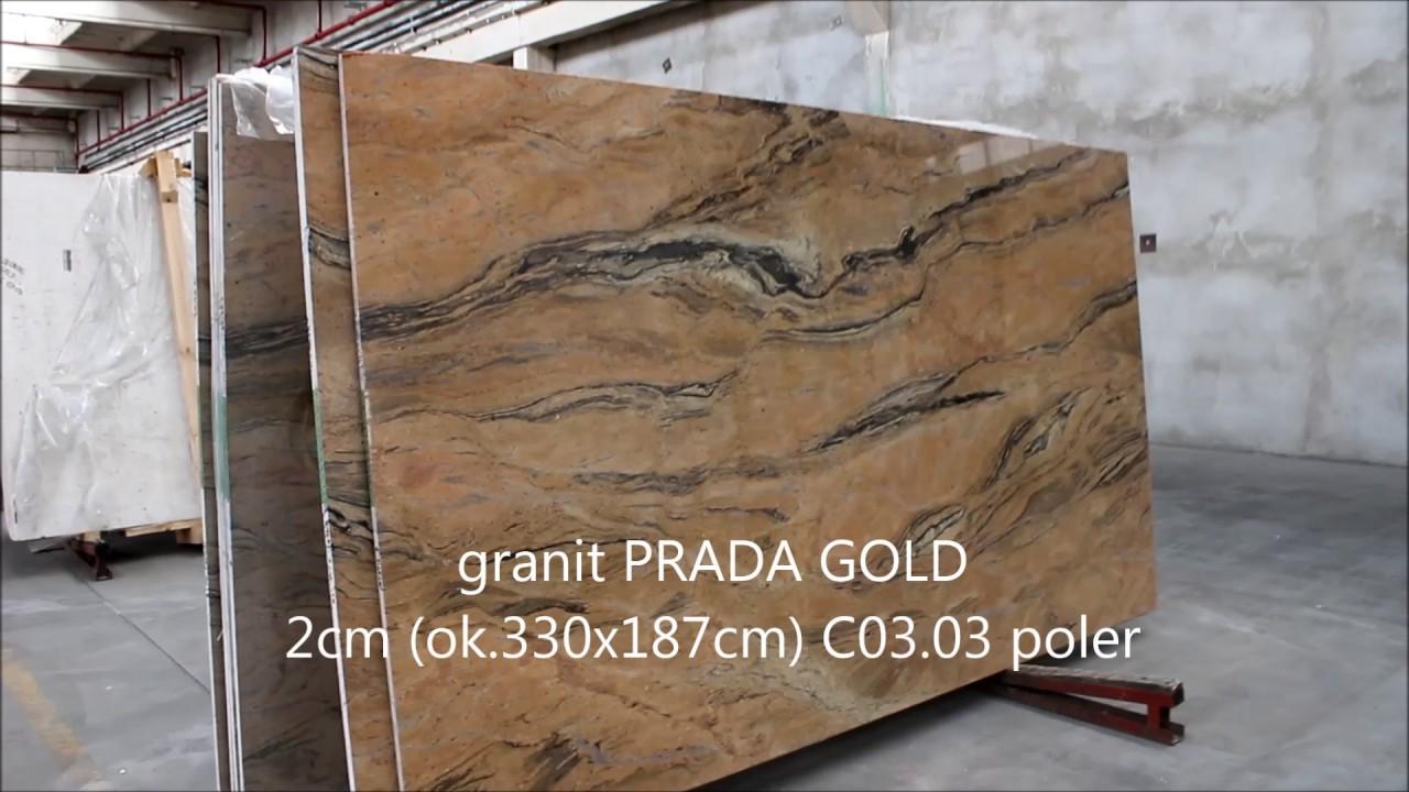 W superbly granit PRADA GOLD 2cm C03.03 poler - YouTube CX87