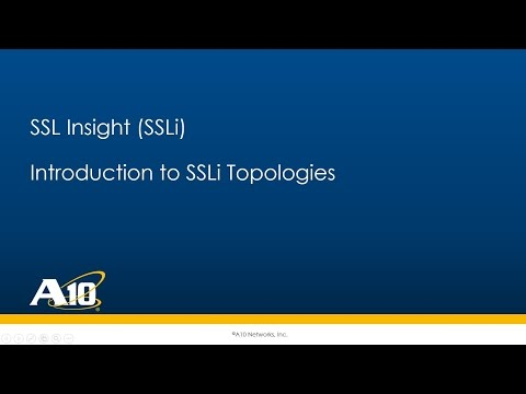 02 SSL Insight - Introduction to Basic SSLi Topologies