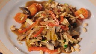 Теплый салат овощей. Рецепт от шеф-повара.
