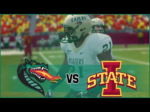 NCAA Football 14 UAB Blazers Dynasty- Year 1 Game 1 at Iowa State Cyclones