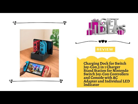 Charging Dock for Switch Joy-Con,5 in 1 Charger Stand Station for Nintendo Switch Joy Con Controller