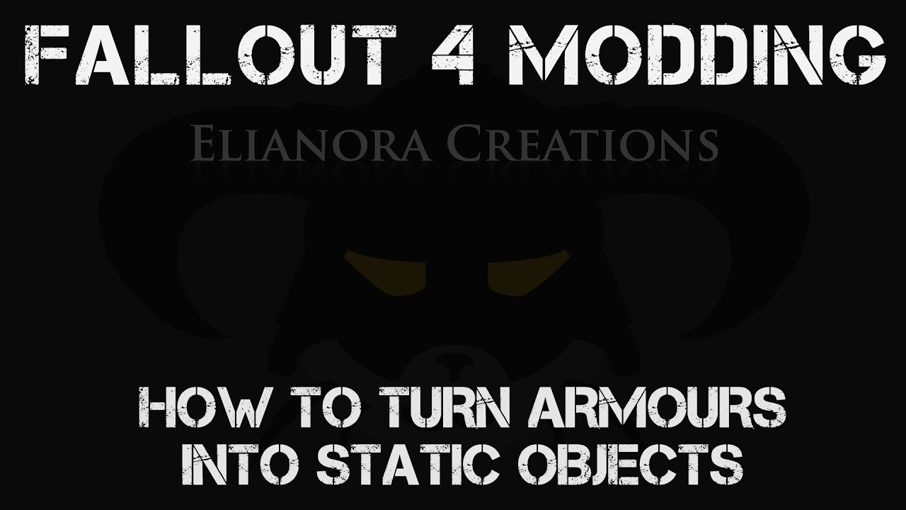 Fallout 4 Modding How To Edit And Make Crafting Mods In Fo4edit By Elianora However, if the game crashes at some random point during gameplay, that to check the first, just try running fo4edit with all the mods you use ticked off. cyberspaceandtime com