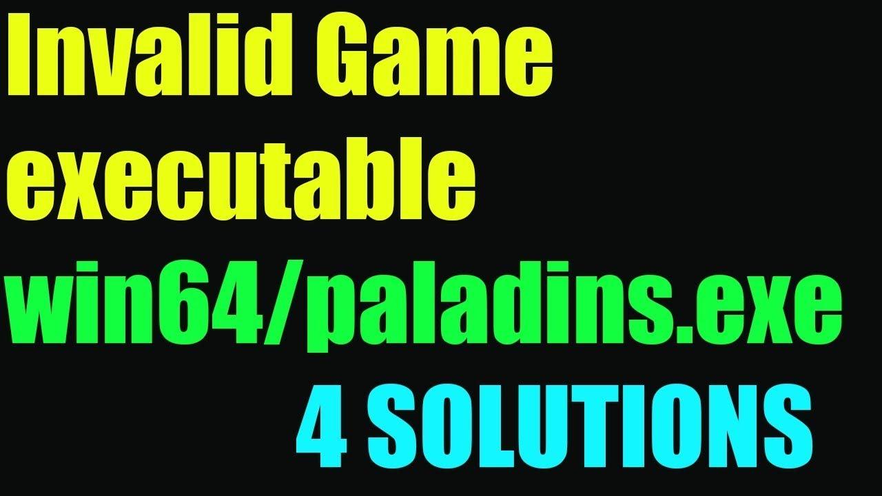 fortnite invalid game executable