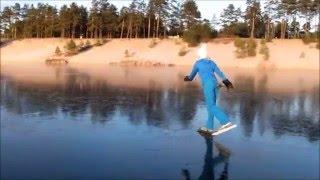 Männiku tee ääres väike järv uiskudel 30 12 2015