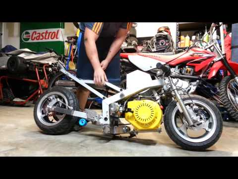 STRETCHED 15HP CLONE POCKET BIKE