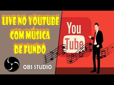 Como Fazer uma Live no Youtube com Música de Fundo OBS Studio