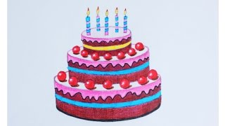 Уроки рисования. Как нарисовать тортик фломастерами ArtBerry how to draw a cake | Art School
