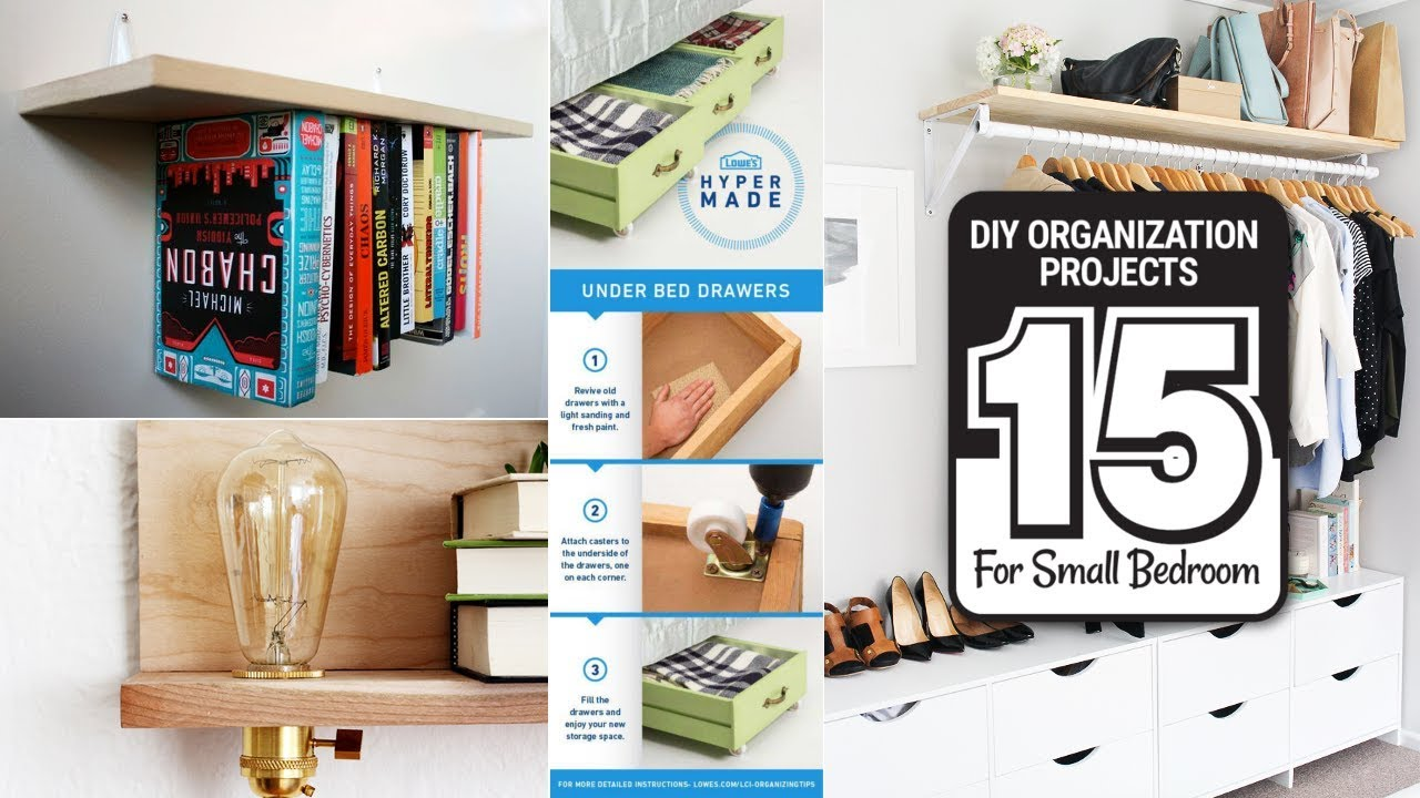15 DIY Organization Projects For Small Size Bedrooms