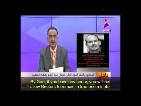 Iraq TV channel threatens Reuters Baghdad bureau.
