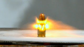 Bullets On A Hot Plate - In 4K Slow Motion