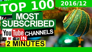 TOP 100 Most Subscribed YouTube Channels (DECEMBER 31, 2016)