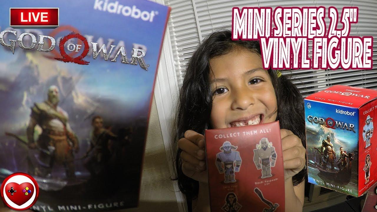 "Kidrobot GOD OF WAR Mini Series JARN FOTR 3/"" Vinyl Figure Opened Blind Box"