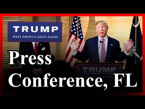 LIVE Donald Trump Press Conference Jupiter Florida FULL SPEECH HD March 8th Primary 3-8-16 ✔