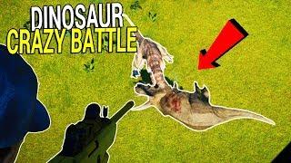 CRAZY DINOSAUR BATTLE from a HEILICOPTER   SHOOT HER!   Jurassic World Evolution Gameplay