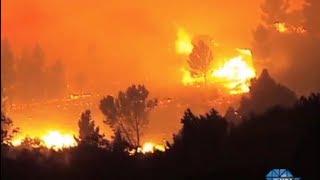 Firefighters battle veld fires in the Western Cape