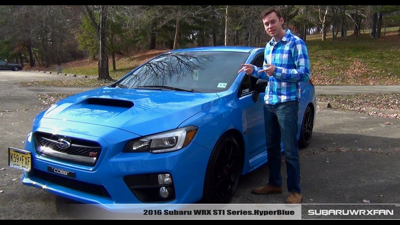 Wallpaper Car Cool Review 2016 Subaru Wrx Sti Hyperblue Youtube