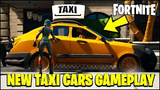 Fortnite CARS UPDATE - FIRST LOOK AT TAXIS AND CARS GAMEPLAY