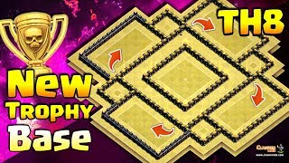 New TH8 Trophy Base | Town Hall 8 New Trophy base | Clash of Clans