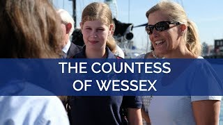 The Countess of Wessex and Lady Louise attend a Sail Training day