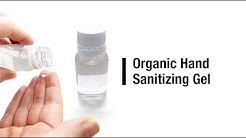 Organic hand sanitizing gel