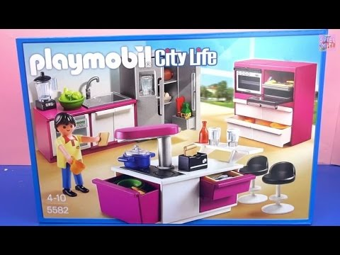 Playmobil designerk che unboxing playmobil city life for Cuisine playmobil 5582
