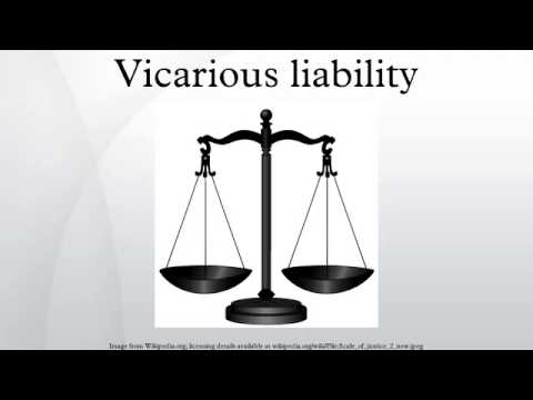 vicarious liability structure Vicarious liability is a form of a strict, secondary liability that arises under the common law doctrine of agency, respondeat superior.