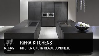 RIFRA Kitchen ONE in black concrete