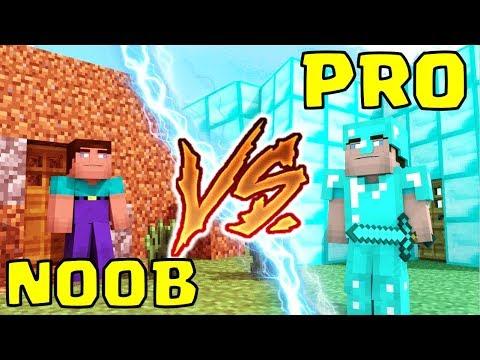 MAISON DE NOOB VS MAISON DE PRO MINECRAFT CHALLENGE !