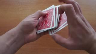 Карточные Трюки #1: Обучение карточным трюкам! Как делать ленту из карт? Обучение фокусам!