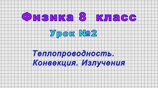 Физика - 8 класс (Урок№2 - Теплопроводность, конвекция, излучение)