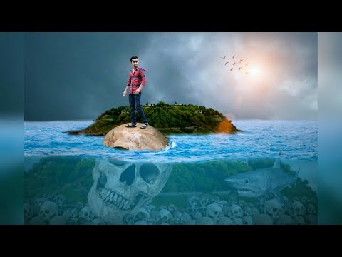 Picsart Boy on Skull under Ocean |Picsart  Under water manipulation | Picsart Tutorial