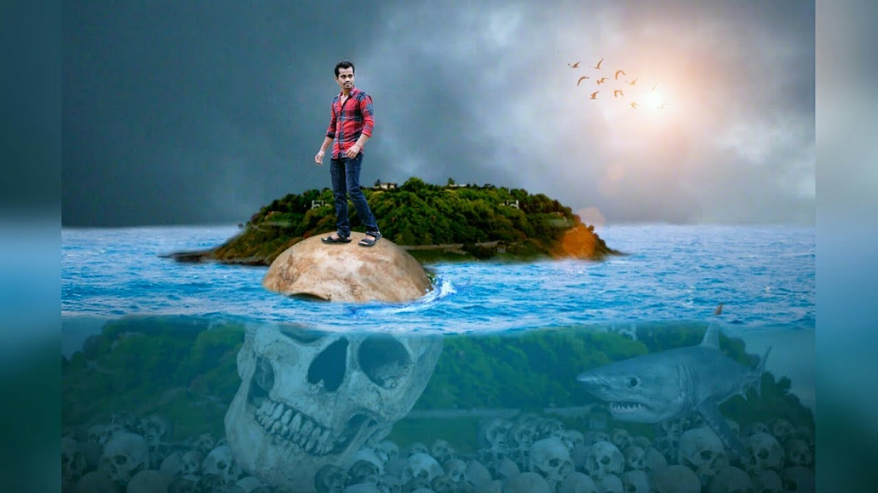 Full Hd Wallpaper Boy And Girl Picsart Boy On Skull Under Ocean Picsart Under Water