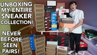 Unboxing My ENTIRE Sneaker Collection! (Never Before Seen Pairs!)