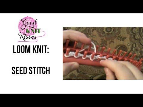 Loom Knit: Seed Stitch