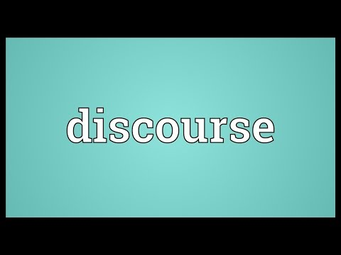 Discourse Meaning