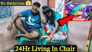Living 24 Hour in Chair Challenge 😢