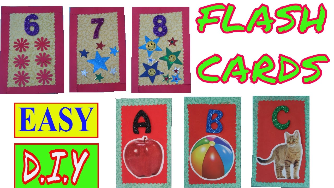 FLASH CARDS | ALPHABET FLASH CARDS | NUMBER FLASH CARDS | HOW TO MAKE FLASH  CARDS | DIY FLASH CARDS