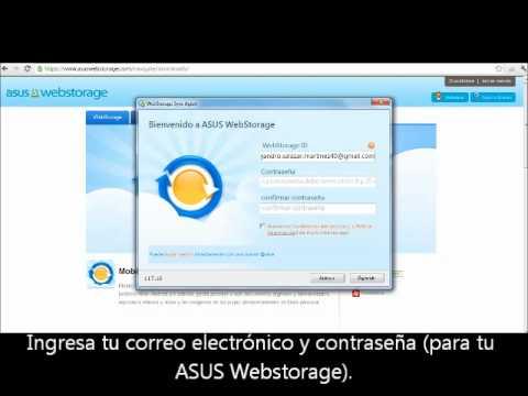 ASUS Webstorage para nuevos usuarios