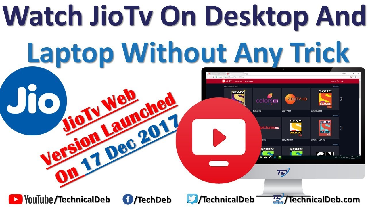 Watch Jio Tv on Desktop and Laptop Without Any Trick | JioTV Web Version  Launched