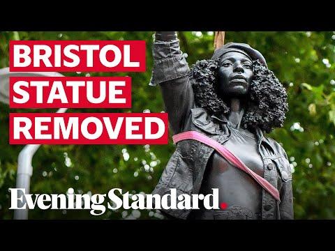 [视频]布里斯托尔的黑人雕塑取代了爱德华·科斯顿