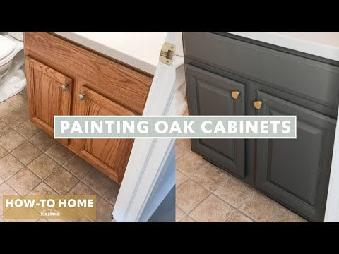 How To Paint Your Oak Cabinets (EASY!)