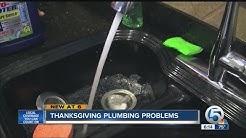 Thanksgiving plumbing problems