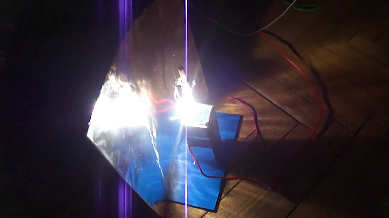 Homemade carbon arc lamp - YouTube